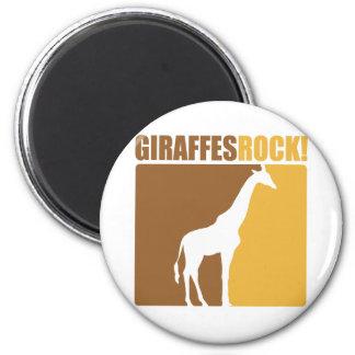 Giraffes Rock! #2 6 Cm Round Magnet