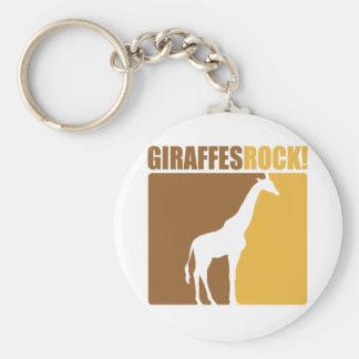 Giraffes Rock! #2 Basic Round Button Key Ring
