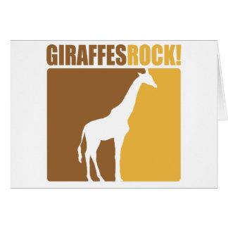 Giraffes Rock! #2 Greeting Card