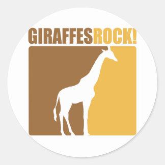 Giraffes Rock! #2 Round Sticker