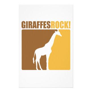 Giraffes Rock 2 Personalized Stationery