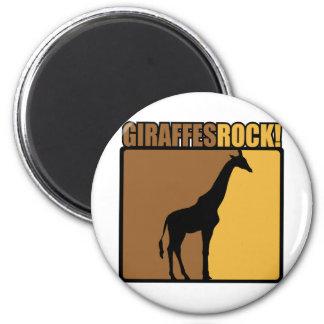 Giraffes Rock! 6 Cm Round Magnet