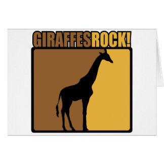 Giraffes Rock! Greeting Card