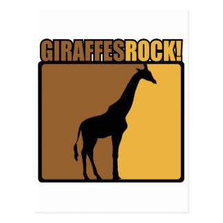 Giraffes Rock! Postcard