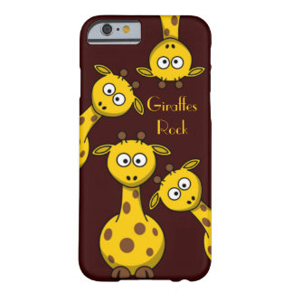 Giraffes Rock - Text Option Barely There iPhone 6 Case