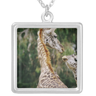 Giraffes Silver Plated Necklace