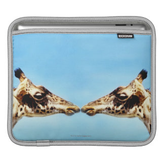 Giraffes touching noses iPad sleeve