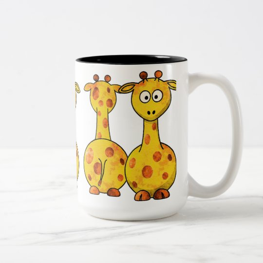 GIRAFFES Two-Tone COFFEE MUG