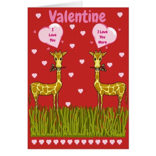 Giraffe's Valentine's Day Card