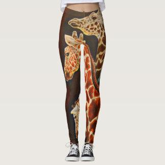Giraffes, We Three African Animal Art Leggings