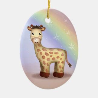 Giraldo the Giraffe - Ornamnet Ceramic Oval Decoration