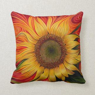 Girasol Dinámico Pillow Throw Cushions