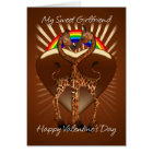 Girfriend Lesbian Valentine's Day Card With Two Lo