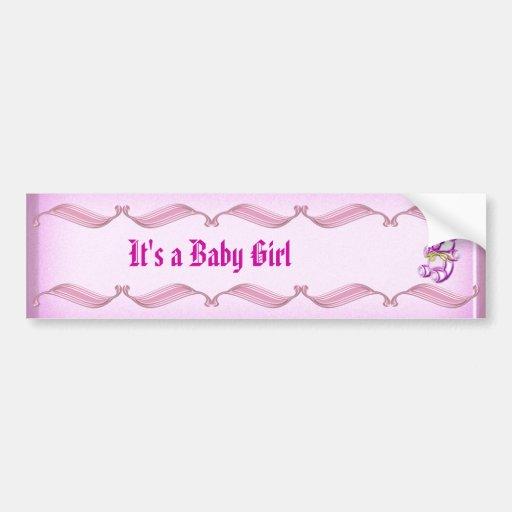 Girl #1 bumper sticker