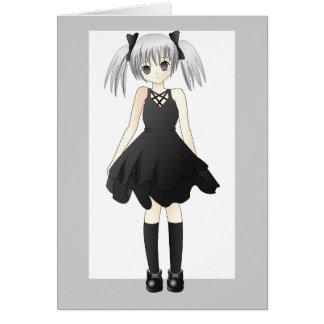 girl-309514  CUTE ANIME GOTH GOTHIC EMO STYLISH FA Greeting Card