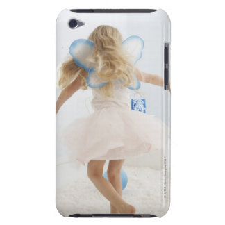Girl (4-5) with fairy wings dancing iPod touch case