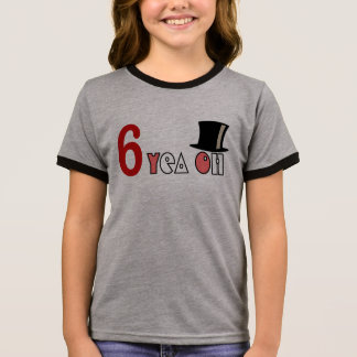 girl' 6 year birthday tshirt HQH