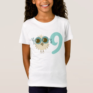 Girl 9th Birthday Party Gifts Teal Owl Age 9 Shirts