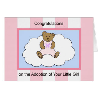 Girl  Adoption Greeting Card