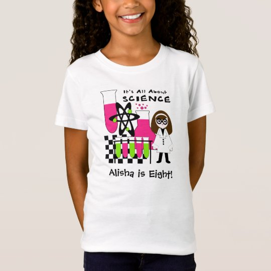 Girl All About Science Customised T-shirt