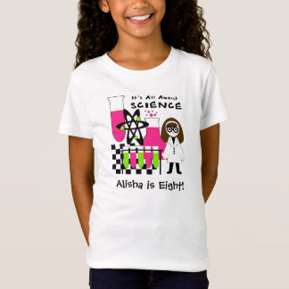 Girl All About Science Customized T-shirt