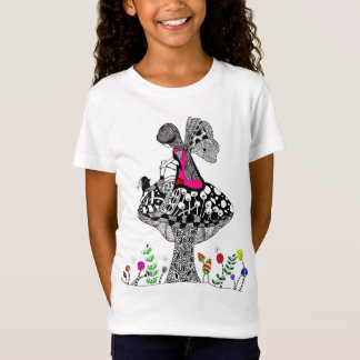 Girl and a Bird T-shirt (You can Customize)