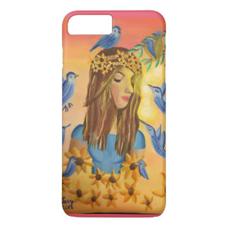 Girl and birds iPhone 8 plus/7 plus case