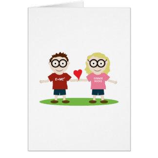 Girl and Boy Geek Greeting Card
