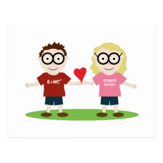 Girl and Boy Geek Postcard