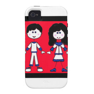 Girl and Boy Stick People iPhone 4 Case