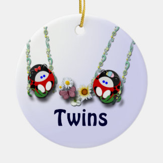 Girl and Boy Twins customize Christmas Ornament