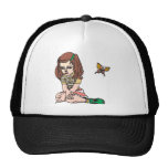 Girl and Butterfly Trucker Hats