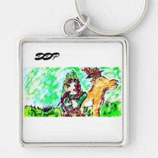 girl and deer key ring