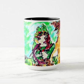 girl and deer mug