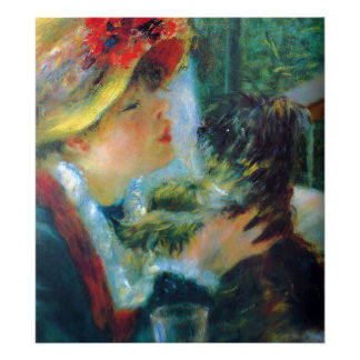 Girl and Dog Renoir Impressionism Fine Art Poster