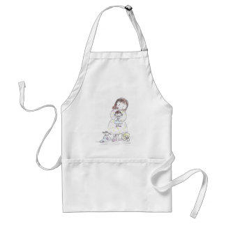 Girl And Doll Standard Apron