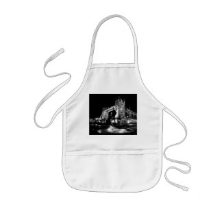 Girl And Dolphin Statue And Tower Bridge Kids Apron