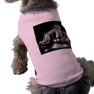 Girl And Dolphin Statue And Tower Bridge Sleeveless Dog Shirt
