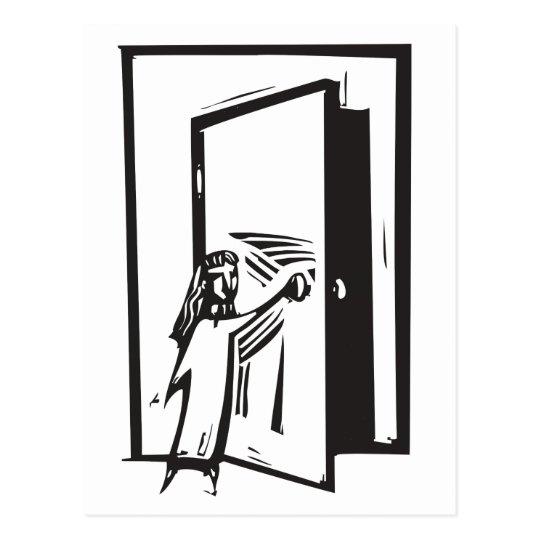 Girl and Door Postcard