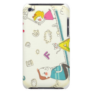 Girl and father sitting on seesaw barely there iPod covers