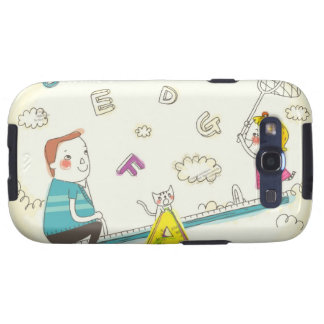 Girl and father sitting on seesaw galaxy s3 cover