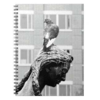 Girl And Her Pigeon Notebook