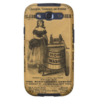 Girl and machine to be washed old galaxy SIII cases