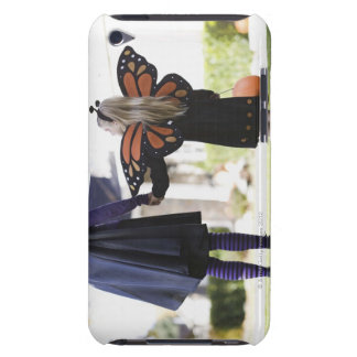 Girl and parent in Halloween costumes Barely There iPod Cover