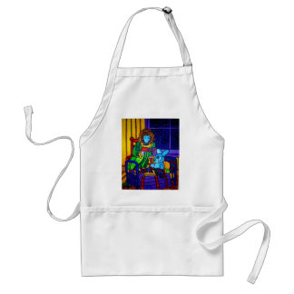 Girl and Rabbit by Piliero Standard Apron