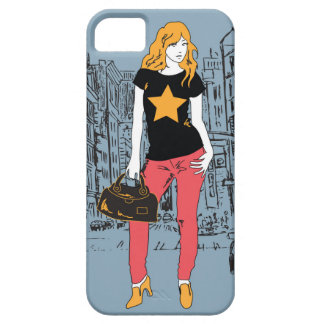 Girl and town iPhone 5 covers