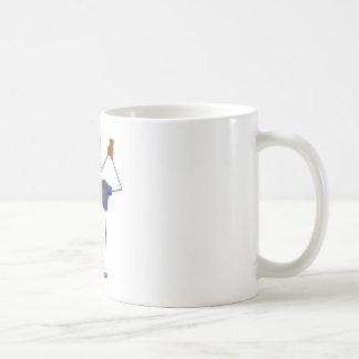 Girl and yoga basic white mug