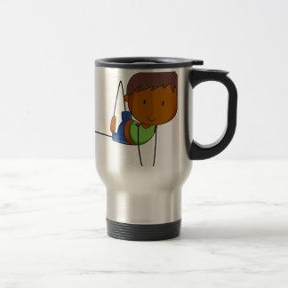 Girl and yoga stainless steel travel mug