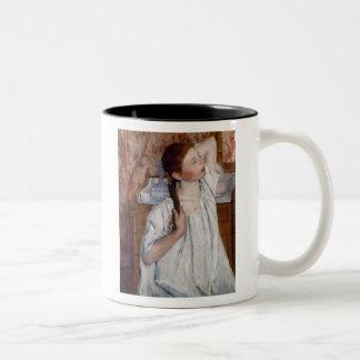 Girl Arranging Her Hair, Mary Cassatt Mugs