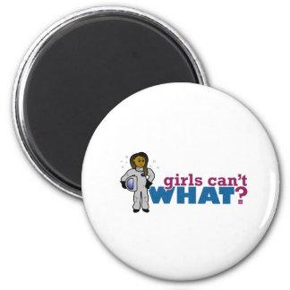 Girl Astronauts 6 Cm Round Magnet